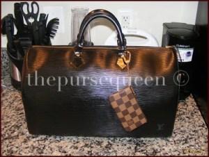 Louis Vuitton Epi leather speedy 40 black noir 1
