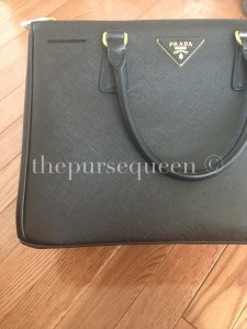 authentic prada saffiano black doublezip tote