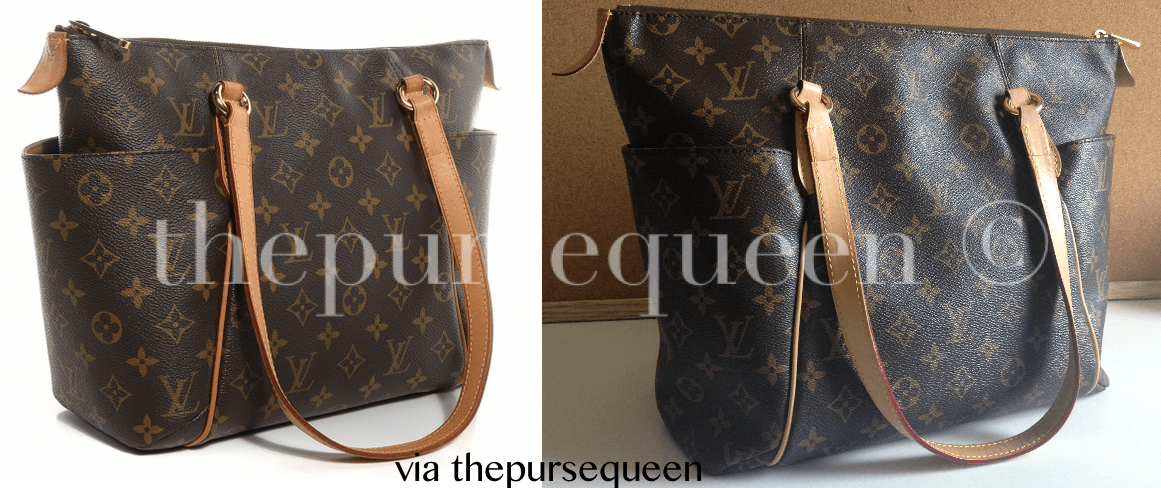 authentic vs replica louis vuitton totally fake vs real lv comparison