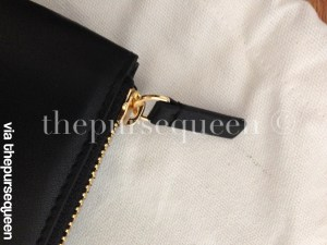 celine trio black leather authentic replica zipper gold