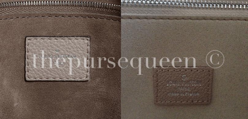 fake vs real LOUIS VUITTON Veau Cachemire Soft Lockit MM tag inside bag