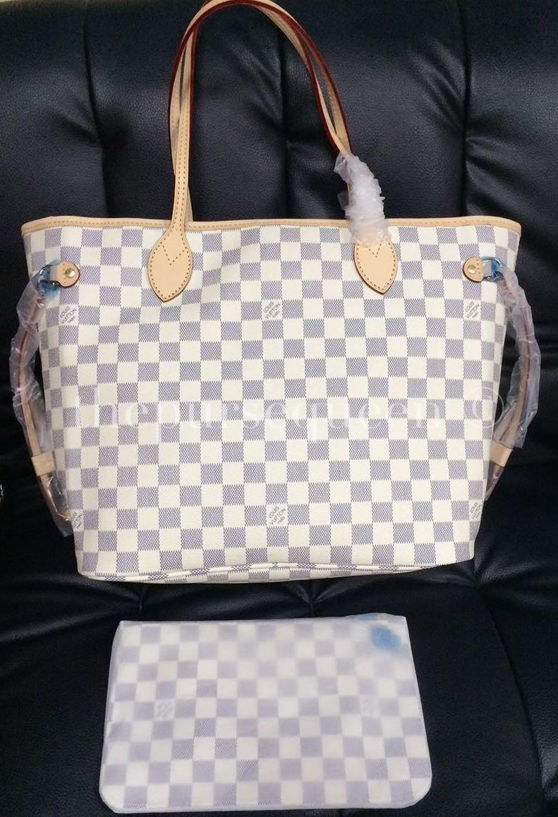 Louis Vuitton Neverfull Replica - Damier Azur - Authentic ...