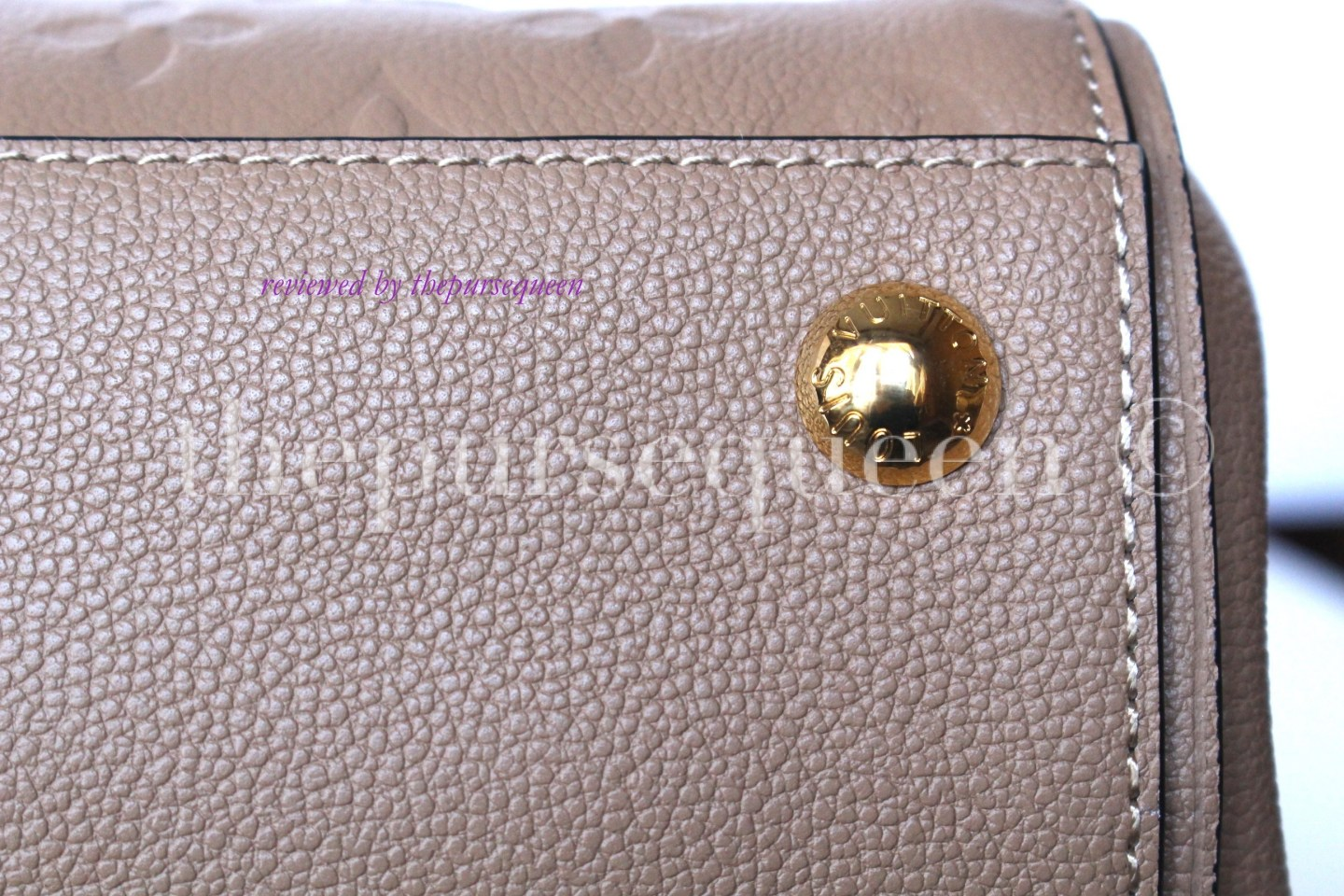louis vuitton empreinte Trocadero replica authentic review bag feet
