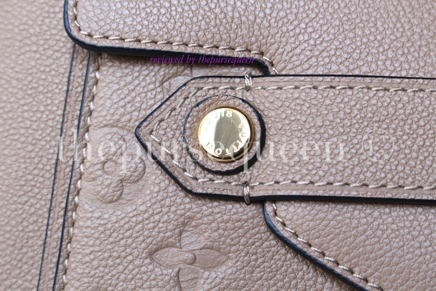 louis vuitton Trocadero empreinte replica authentic review hardware closeup