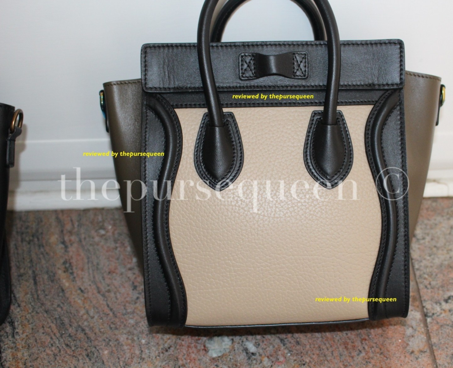 back of celine nano bag #celine #nano #tricolor #authentic #real #fake #replica