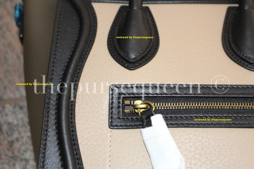 celine closeup nano bag #celine #nano #tricolor #authentic #real #fake #replica
