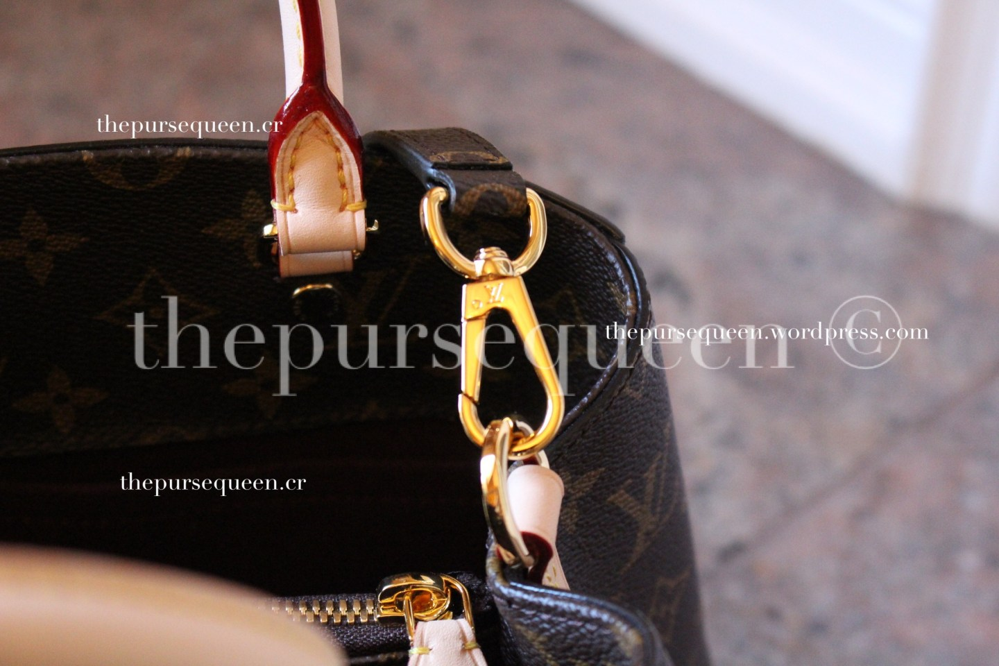 louis vuitton montaigne replica #replicabag #replicabags hardware