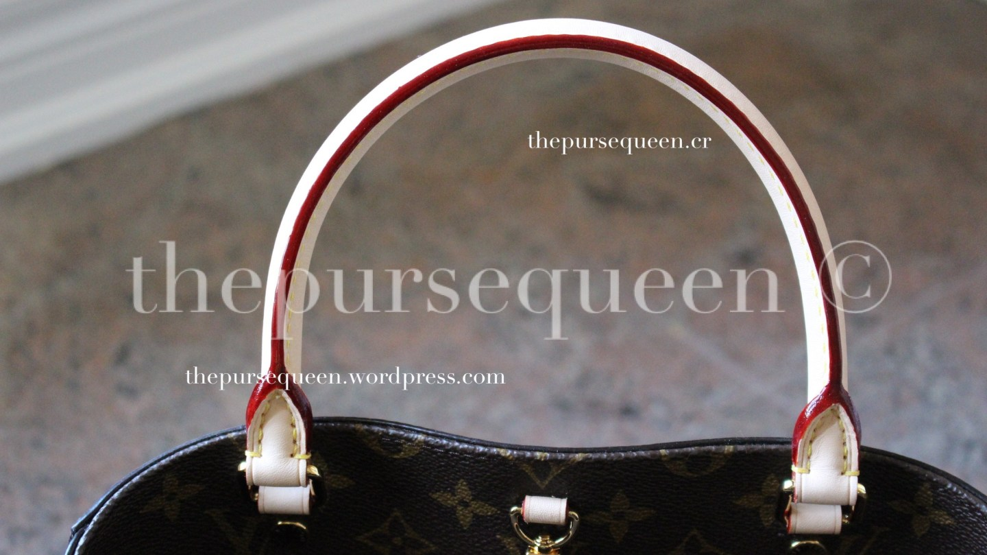louis vuitton montaigne replica #replicabag #replicabags red coated handles