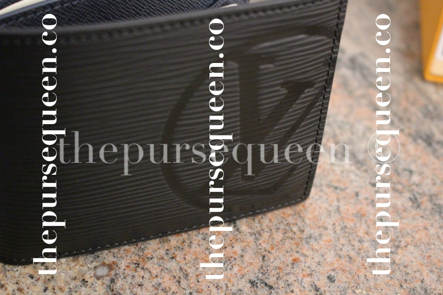 Louis Vuitton Multiple Epi Initials Replica Wallet Closeup