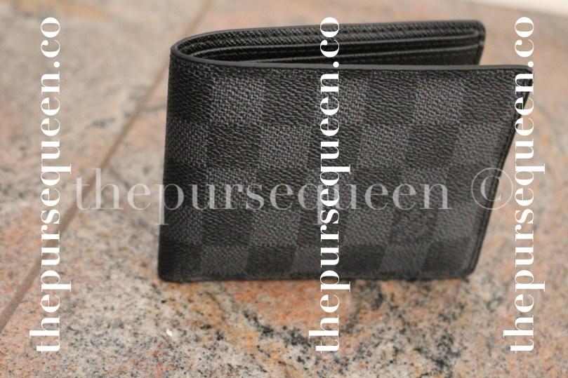 Louis Vuitton Damier Graphite Multiple Replica Wallet Side View