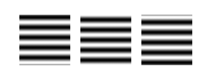 Sinusoidal gratings with different phase, used in 2D Fourier transform in Python article