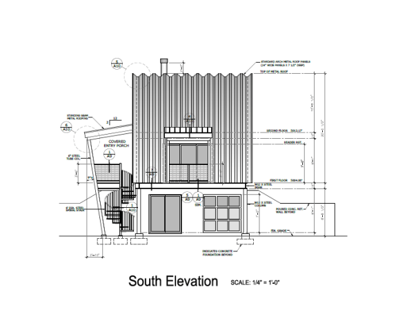 Q cabin architectural drawings