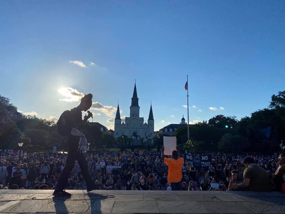 Thousands gather in Jackson Square to protest police brutality following George Floyd killing
