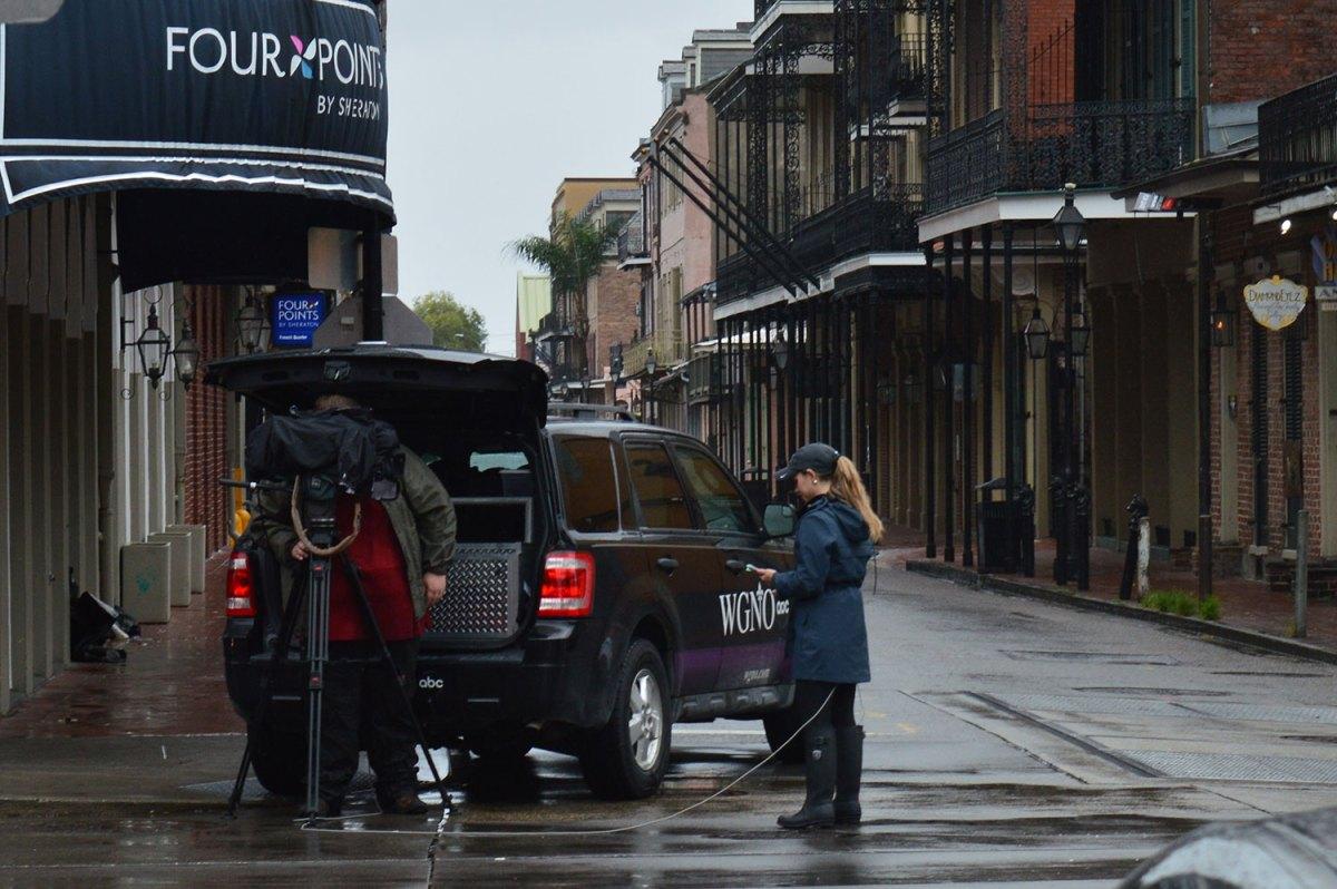 Hurricane Ida makes landfall in the French Quarter
