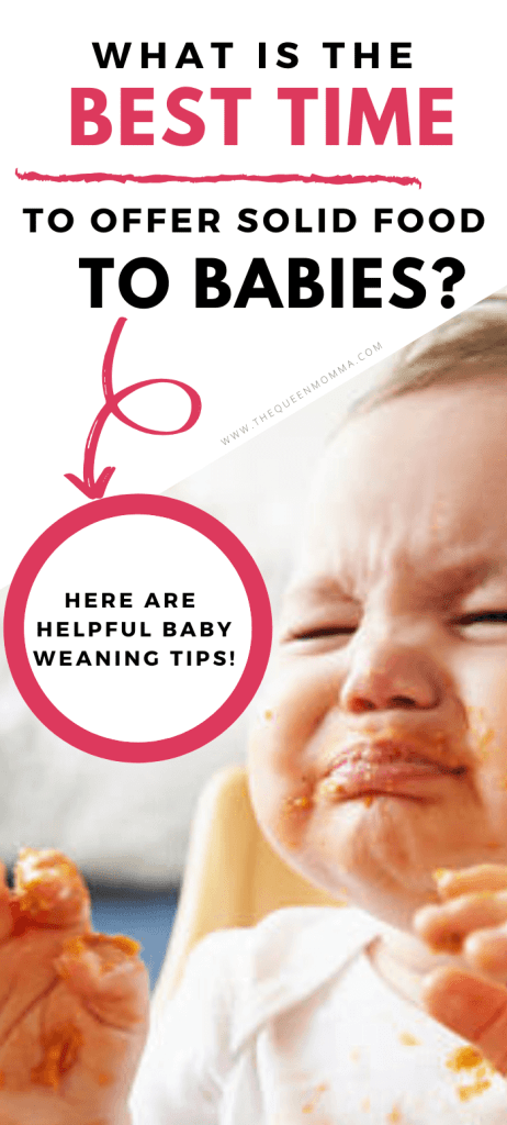 best time to offer solid food to babies - baby weaning