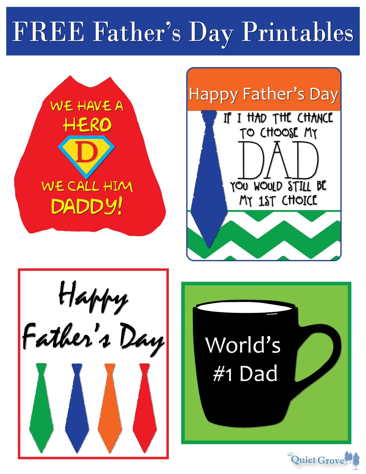 These creative Father's Day Tags are perfect to give the final touch ...