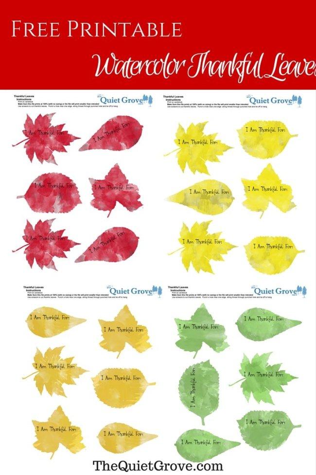 Accomplished image regarding thankful leaves printable