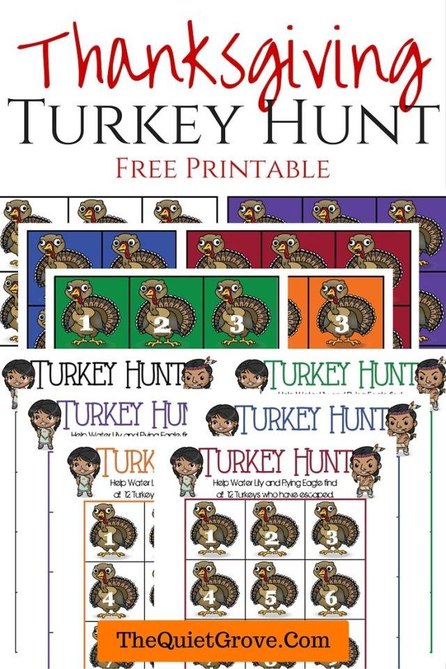 Thanksgiving Turkey Hunt Free Printable