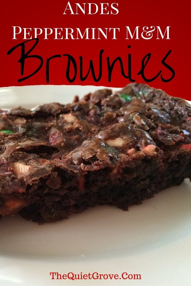 Andes Peppermint M&M Brownies
