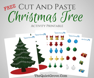 Free Cut And Paste Christmas Tree Activity Printable
