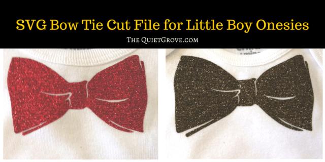 DIY Bow Ties for Little Boy Onesies (1)