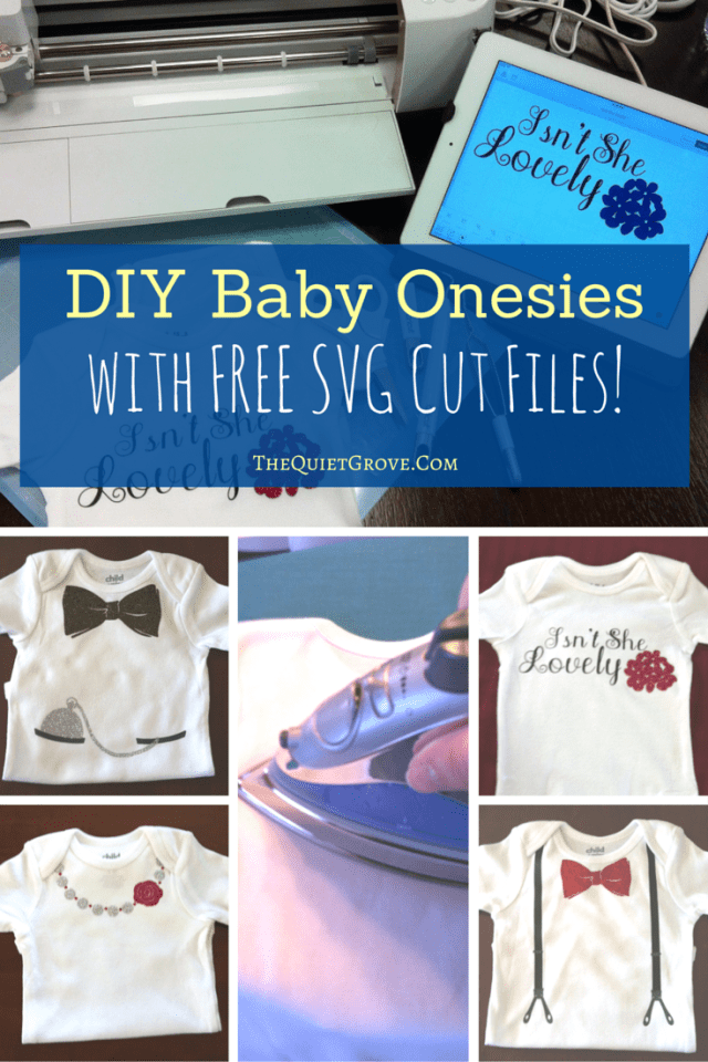 These DIY Baby Onesies are the perfect baby shower gift. (with Free SVG Cut Files! )