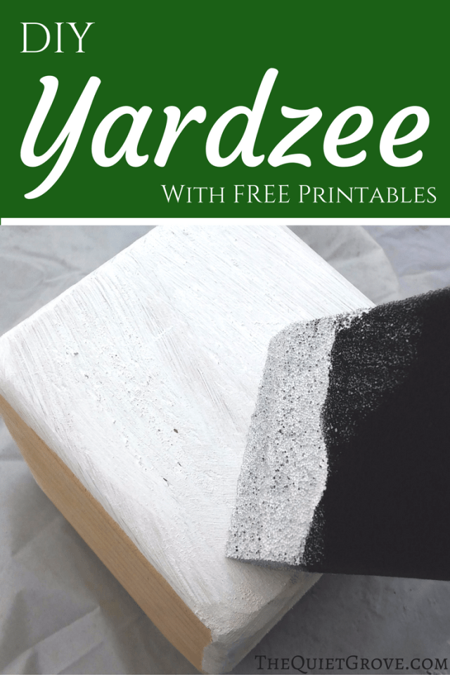 Diy Yardzee Set ⋆ The Quiet Grove
