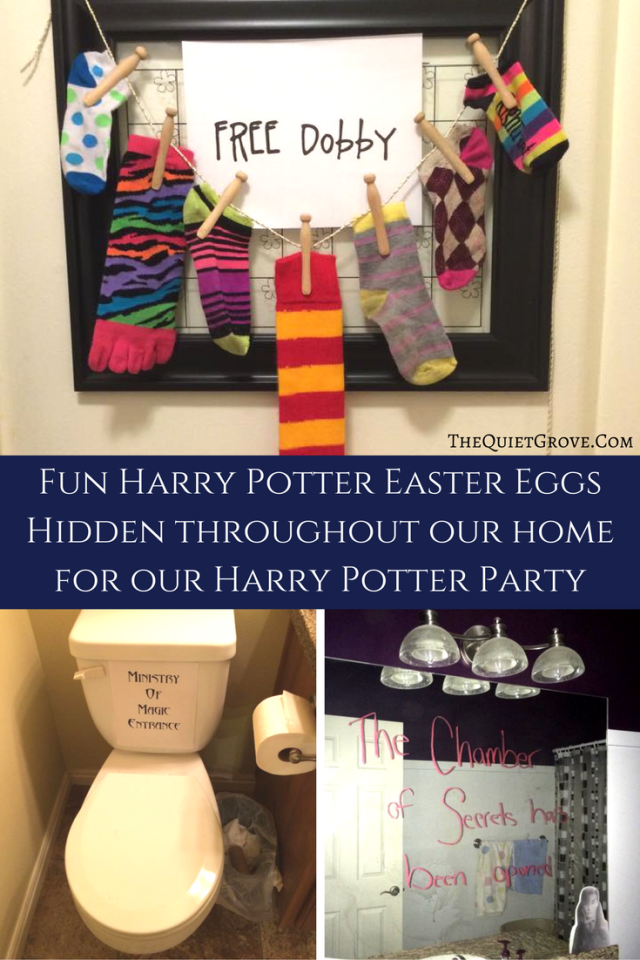 Harry Potter Easter Eggs hidden throughout our house for our Party