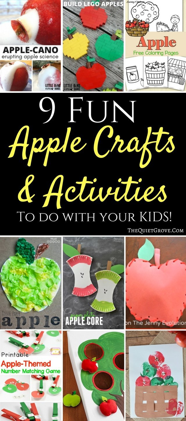 9 Fun Apple Crafts and Activities to do with your kids!