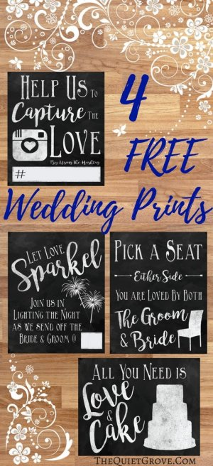 4 Free Wedding Prints! (Chalkboard)