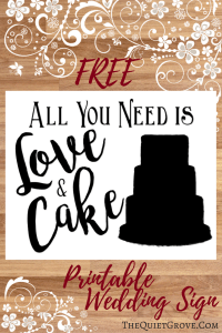 All You need is Love & Cake