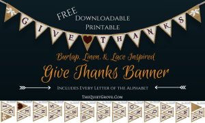 Burlap, Linen, & Lace Inspired Banner