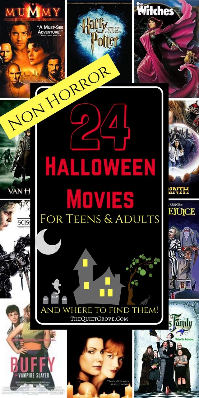 24 Non Horror Halloween Movies for Teens and Adults and Where to Find Them