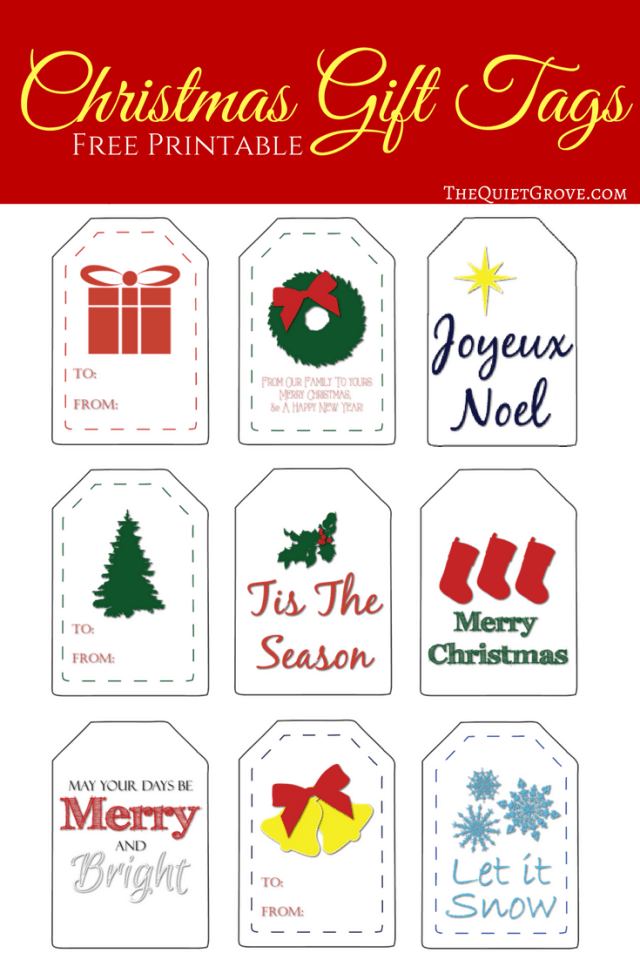 Printable Christmas Gift Tags ⋆ The Quiet Grove