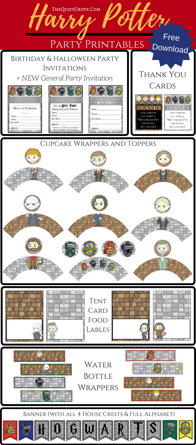 Click Here To Download Your Harry Potter Party Printable Package