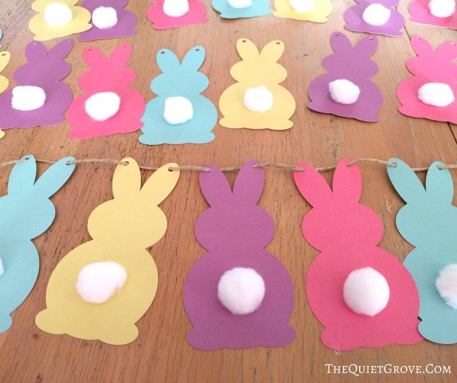 Easter Banner-Easter Garland-Easter Sign-Easter Gift-Bunny Butts Banner-Easter Bunny Banner-Happy Easter Banner-Easter Decor