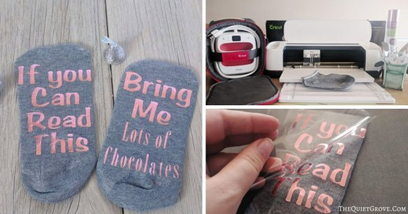 How to customize your socks with Cricut Iron-on & the