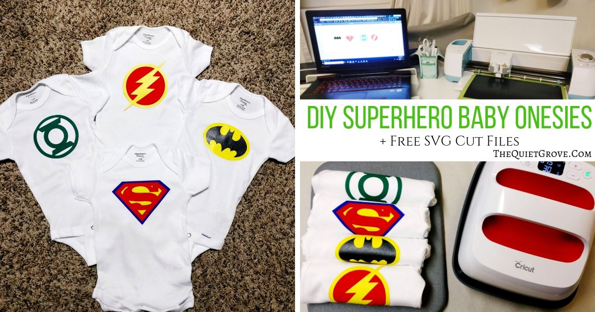 DIY Superhero Baby Onesies (with free SVG Cut Files) ⋆ The ...