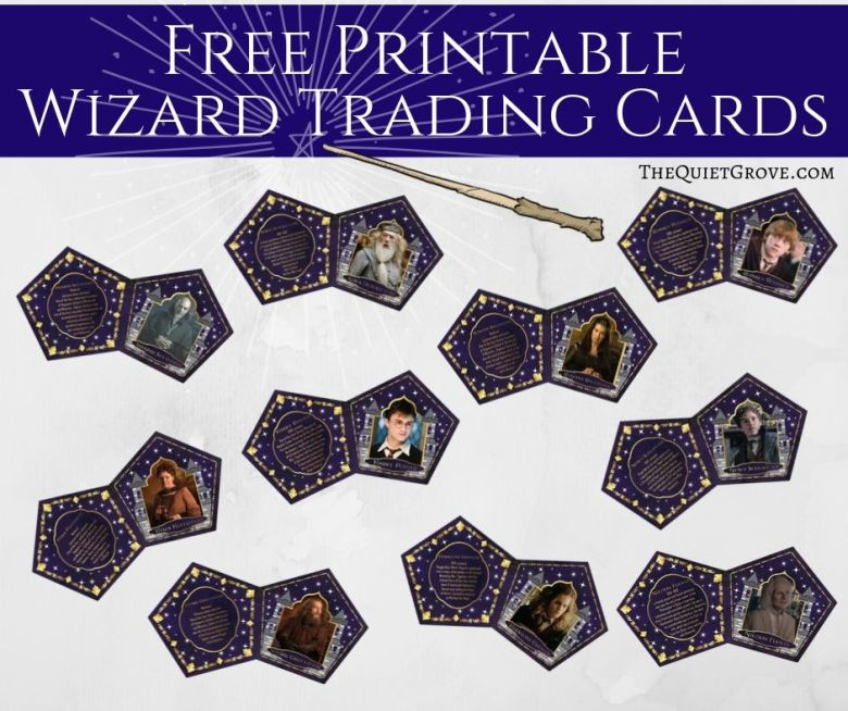 DIY Chocolate Frog Boxes & Wizard Cards (with Free