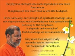 Swami Tejomayananda, Worldwide Head, Chinmaya Mission