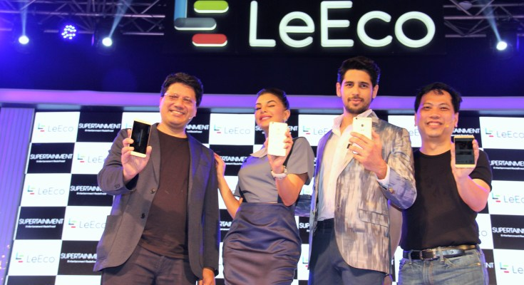 Mr Atul Jain, COO, LeEco, India, jacqueline fernandez and sidharth malho...