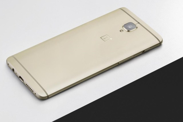 OnePlus 3 Soft Gold On Table