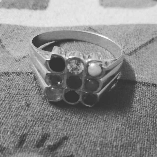 Gold Ring (Black and White)