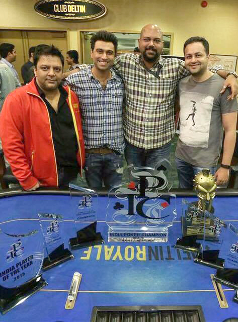 The Spartan Poker Team (Left - Right) Rajeev Kanjani, Amin Rozani, Peter Abraham and Sameer Rattonsey