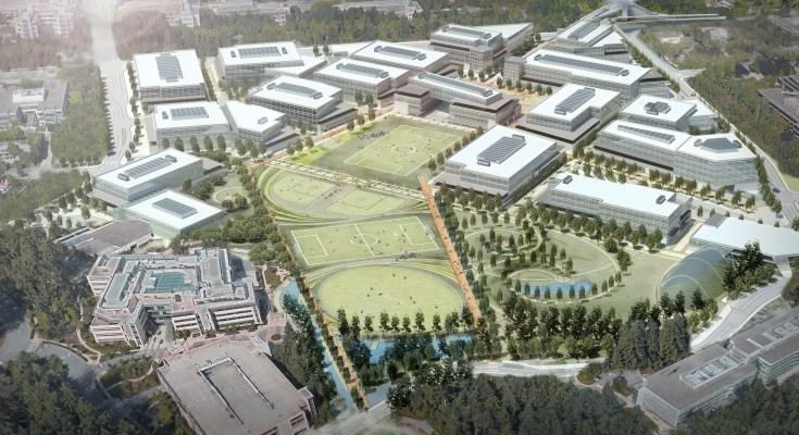 Artist-rendering_Microsoft-Redmond-campus
