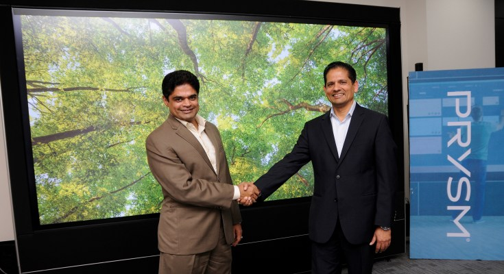 (L - R) GB Kumar, Vice President - India and Asia Pacific and Amit Jain, CEO and co-founder, Prysm Inc.
