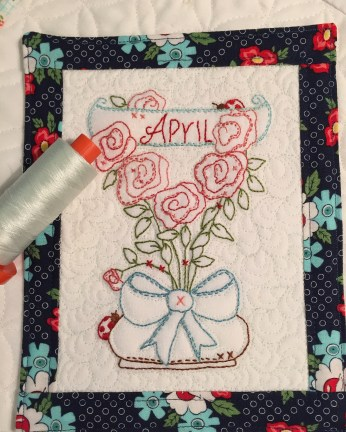 """April's """"A year in the Garden"""" Mini quilt"""