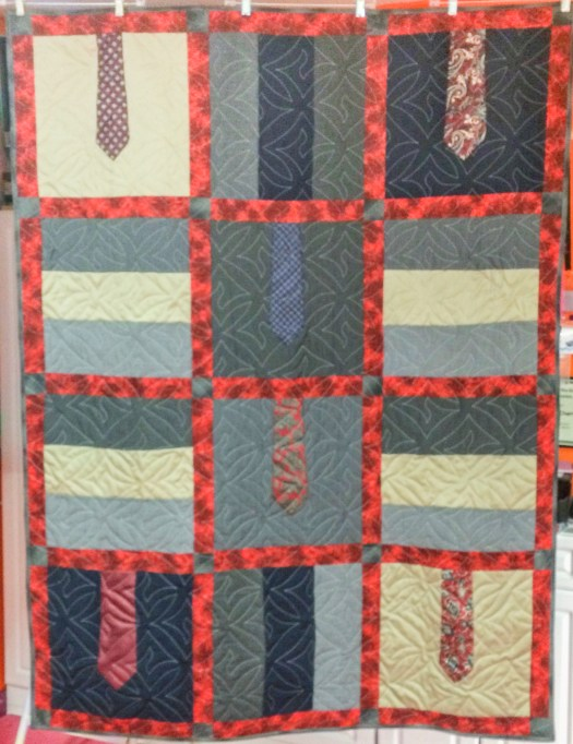 Memory Quilts made from pants and ties