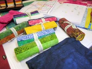 colorful Island Batik fabrics will make a beautiful modern quilt