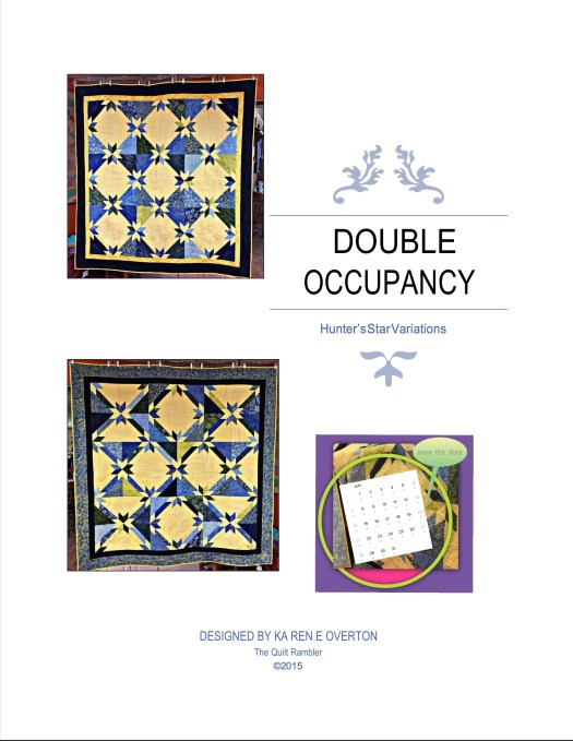 Pattern cover showing Double Occupancy quilt pattern by Karen Overton